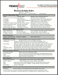 Resume for Theatre (pdf)